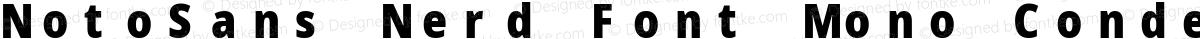 NotoSans Nerd Font Mono Condensed Black