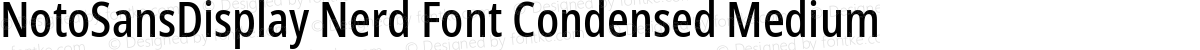 NotoSansDisplay Nerd Font Condensed Medium