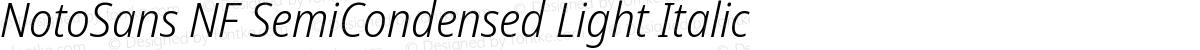 NotoSans NF SemiCondensed Light Italic