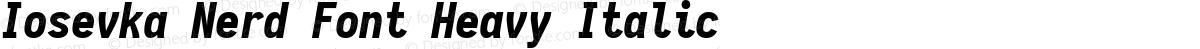 Iosevka Nerd Font Heavy Italic