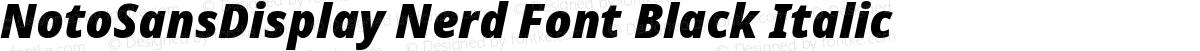 NotoSansDisplay Nerd Font Black Italic