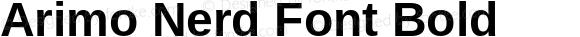 Arimo Nerd Font Bold Version 1.23