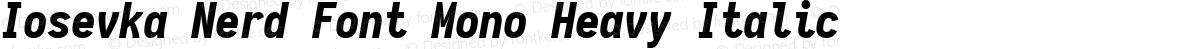 Iosevka Nerd Font Mono Heavy Italic