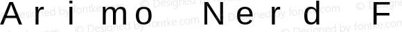 Arimo Nerd Font Mono Regular Version 1.23
