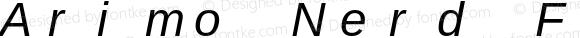 Arimo Nerd Font Mono Italic Version 1.23