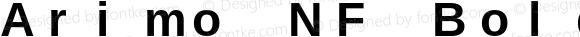 Arimo NF Bold Version 1.23