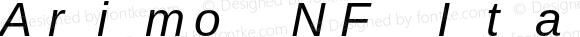 Arimo NF Italic Version 1.23