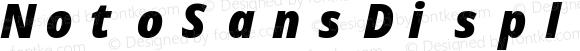 NotoSansDisplay NF Black Italic