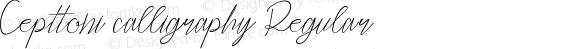 Cepttoni calligraphy Regular