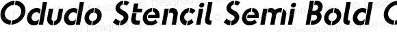 Odudo Stencil Semi Bold Oblique