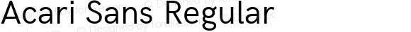 Acari Sans Regular