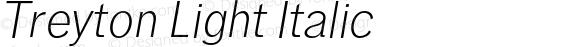 Treyton Light Italic