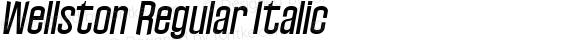 Wellston Regular Italic