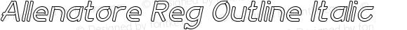 Allenatore Reg Outline Italic