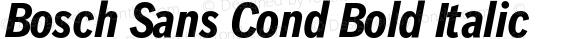 Bosch Sans Cond