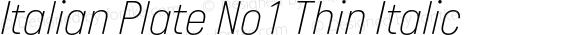 Italian Plate No1 Thin Italic