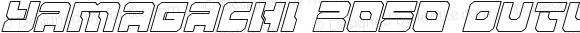 Yamagachi 2050 Outline Italic Outline Italic
