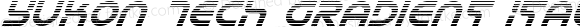 Yukon Tech Gradient Italic