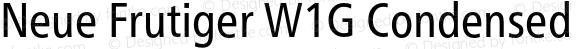 Neue Frutiger W1G Condensed