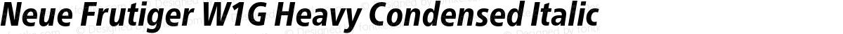 Neue Frutiger W1G Heavy Condensed Italic