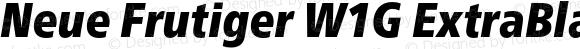 Neue Frutiger W1G ExtraBlack Condensed Italic