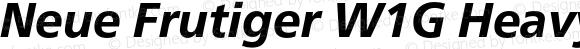 Neue Frutiger W1G Heavy Italic