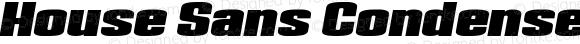House Sans Condensed Heavy Italic
