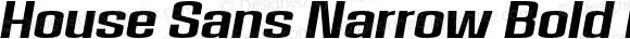 House Sans Narrow Bold Italic