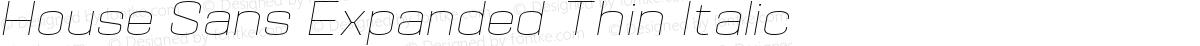 House Sans Expanded Thin Italic