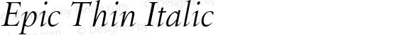 Epic Thin Italic