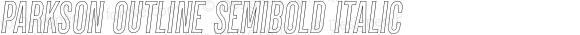 Parkson Outline SemiBold Italic