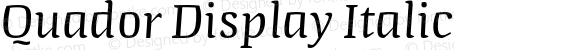 Quador Display Italic