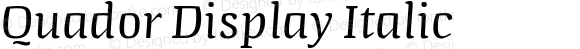 Quador Display Italic