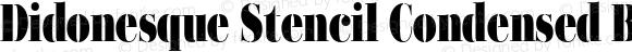 Didonesque Stencil Condensed Black