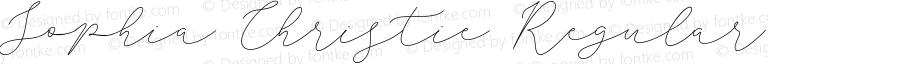 Sophia Christie Regular Version 1.002;Fontself Maker 3.1.1