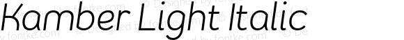 Kamber Light Italic
