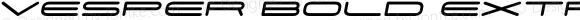Vesper Bold Extra Large Oblique