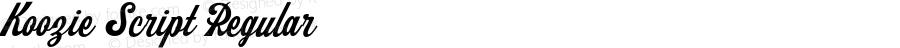Koozie Script Regular Version 1.000;PS 001.000;hotconv 1.0.88;makeotf.lib2.5.64775