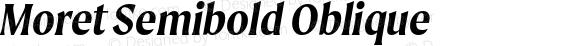 Moret Semibold Oblique