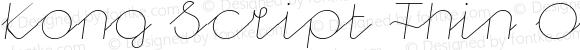 Kong Script Thin Oblique