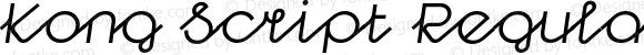 Kong Script Regular Oblique