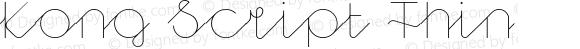 Kong Script Thin
