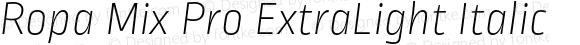 Ropa Mix Pro ExtraLight Italic