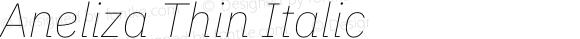 Aneliza Thin Italic