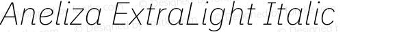 Aneliza ExtraLight Italic