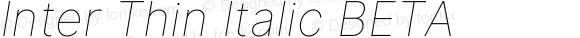 Inter Thin Italic BETA