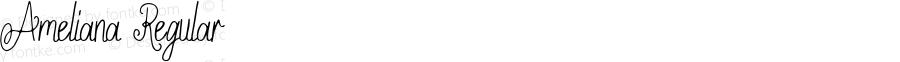 Ameliana Regular Version 1.00;February 3, 2019;FontCreator 11.5.0.2430 32-bit