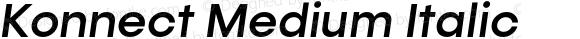 Konnect Medium Italic
