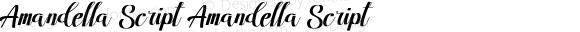 Amandella Script Amandella Script