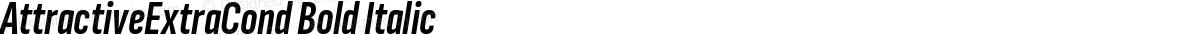 AttractiveExtraCond Bold Italic